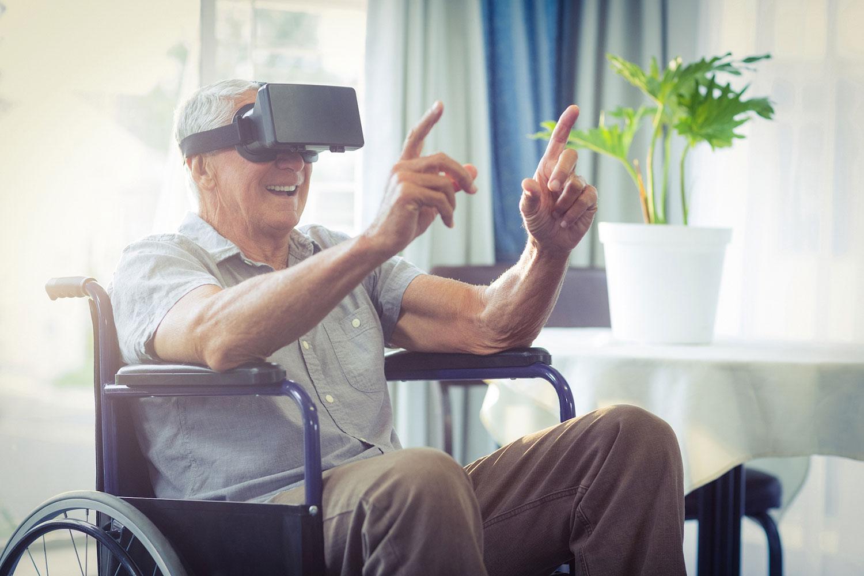 Mercaspin Realidad Virtual adulto mayor